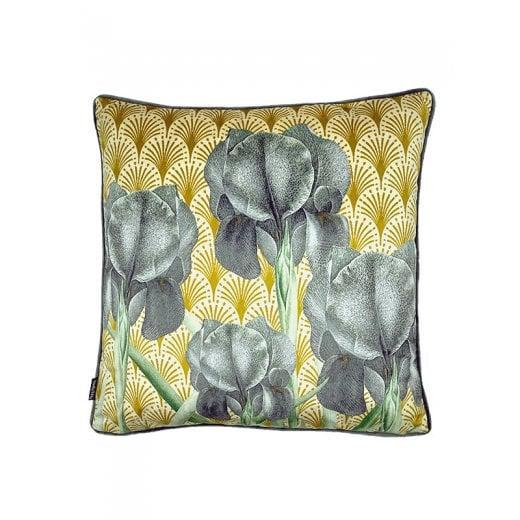 Vanilla Fly Velvet Cushion-Iris 50 x 50cm (including Deluxe Filling)