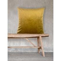 Vanilla Fly Velvet Cushion-Mustard 50 x 50cm(Including Deluxe Filling)