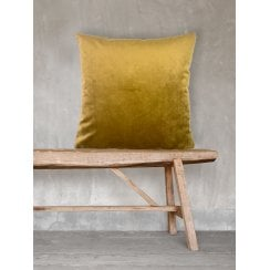 Vanilla Fly Velvet Cushion-Mustard 50 x 50cm(Including Deluxe Filling)