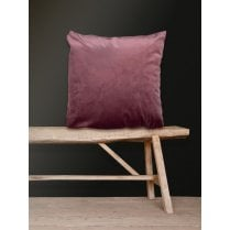Vanilla Fly Velvet Cushion-Rhubarb 50 x 50cm (Including Deluxe Filling)