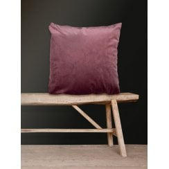 Vanilla Fly Velvet Cushion-Rhubarb 50 x 50cm (Including Deluxe Filling)