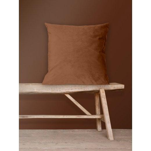 Vanilla Fly Velvet Cushion-Sienna 50 x 50 cm (Including Deluxe Filling)