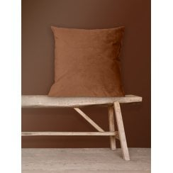 Vanilla Fly Velvet Cushion-Sienna 50 x 50 cm (Including Deluxe Filling)