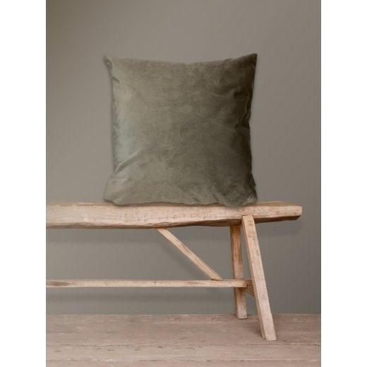 Vanilla Fly Velvet Cushion-Taupe 50 x 50cm (Including Deluxe Filling)