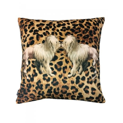 Vanilla Fly Velvet Cushion Tigerdog 50 x 50cm
