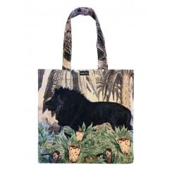 Vanilla Fly Velvet Tote Bag - Black Lion