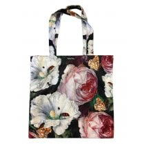 Vanilla Fly Velvet Tote Bag - Flowers and Bugs