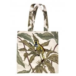Vanilla Fly Velvet Tote Bag- Monkey on Leaves