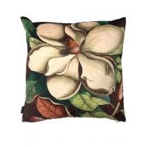 Vanilla Fly White Magnolia Design Cushion (Including Deluxe Filling)