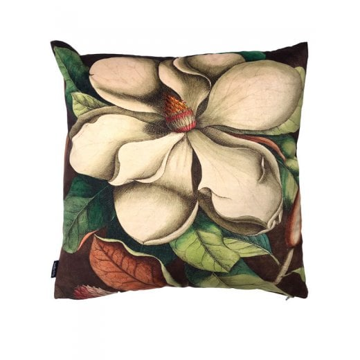 Vanilla Fly White Magnolia Design Cushion