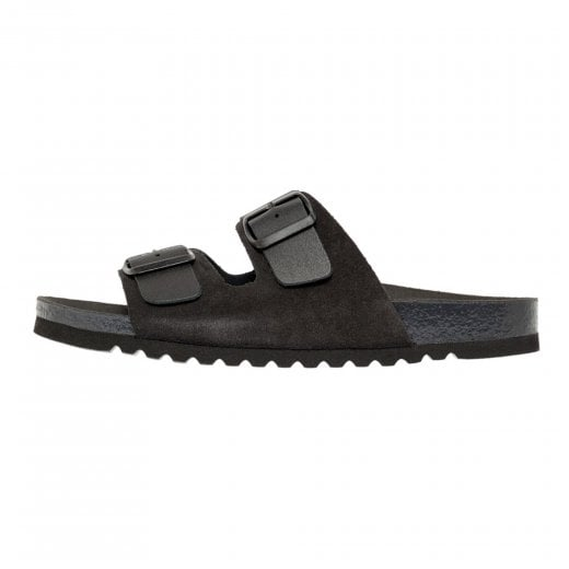 Vero Moda Leather Sandals with Buckle - Black