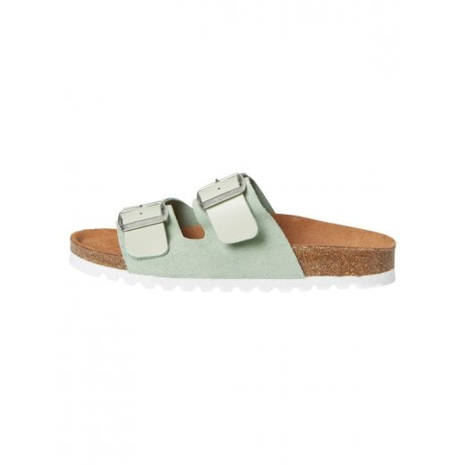 Vero Moda Leather Sandals with Buckle - Bok Choy