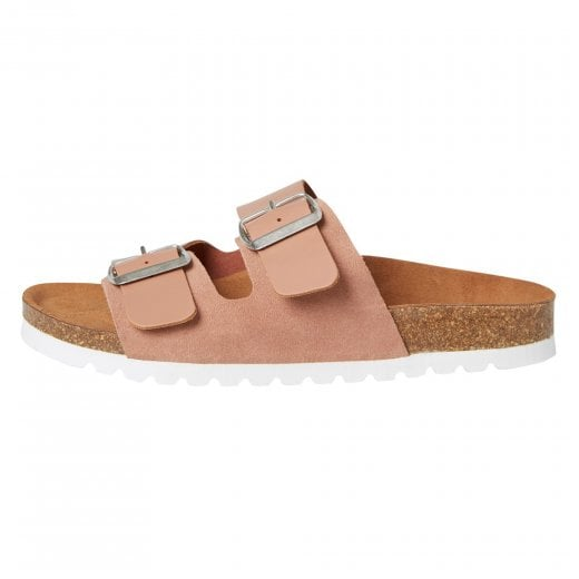 Vero Moda Leather Sandals with Buckle - Cafe Au Lait