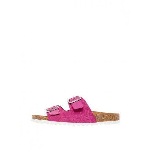 Vero Moda Leather Sandals with Buckle - Festival Fuchsia
