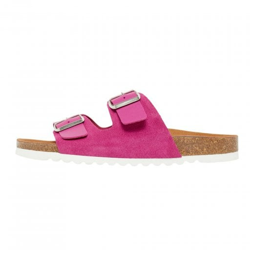 Vero Moda Leather Sandals with Buckle - Festival Fuchsia