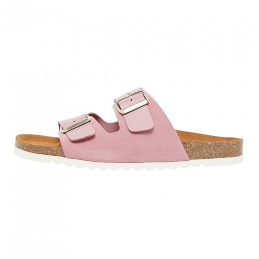 Vero Moda Leather Sandals with Buckle - Foxglove
