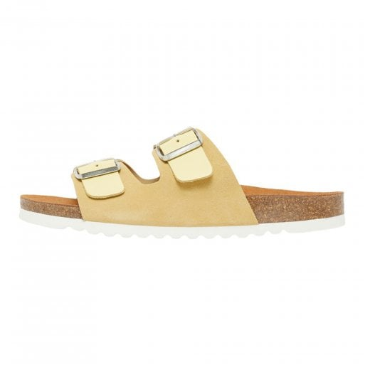 Vero Moda Leather Sandals with Buckle - Mellow Yellow
