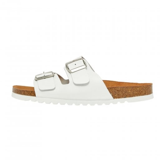 Vero Moda Leather Sandals with Buckle - White