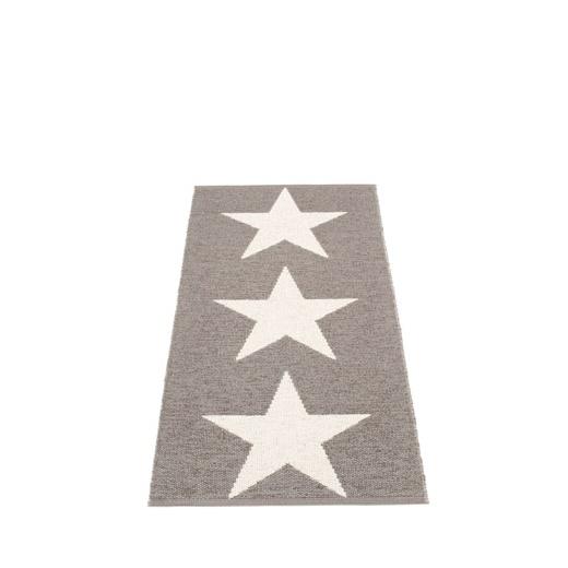 Pappelina VIGGO STAR METALLIC SHINE Pappelina Mat MUD/VANILLA 70X150CM