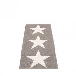 VIGGO STAR METALLIC SHINE Pappelina Mat MUD/VANILLA 70X150CM