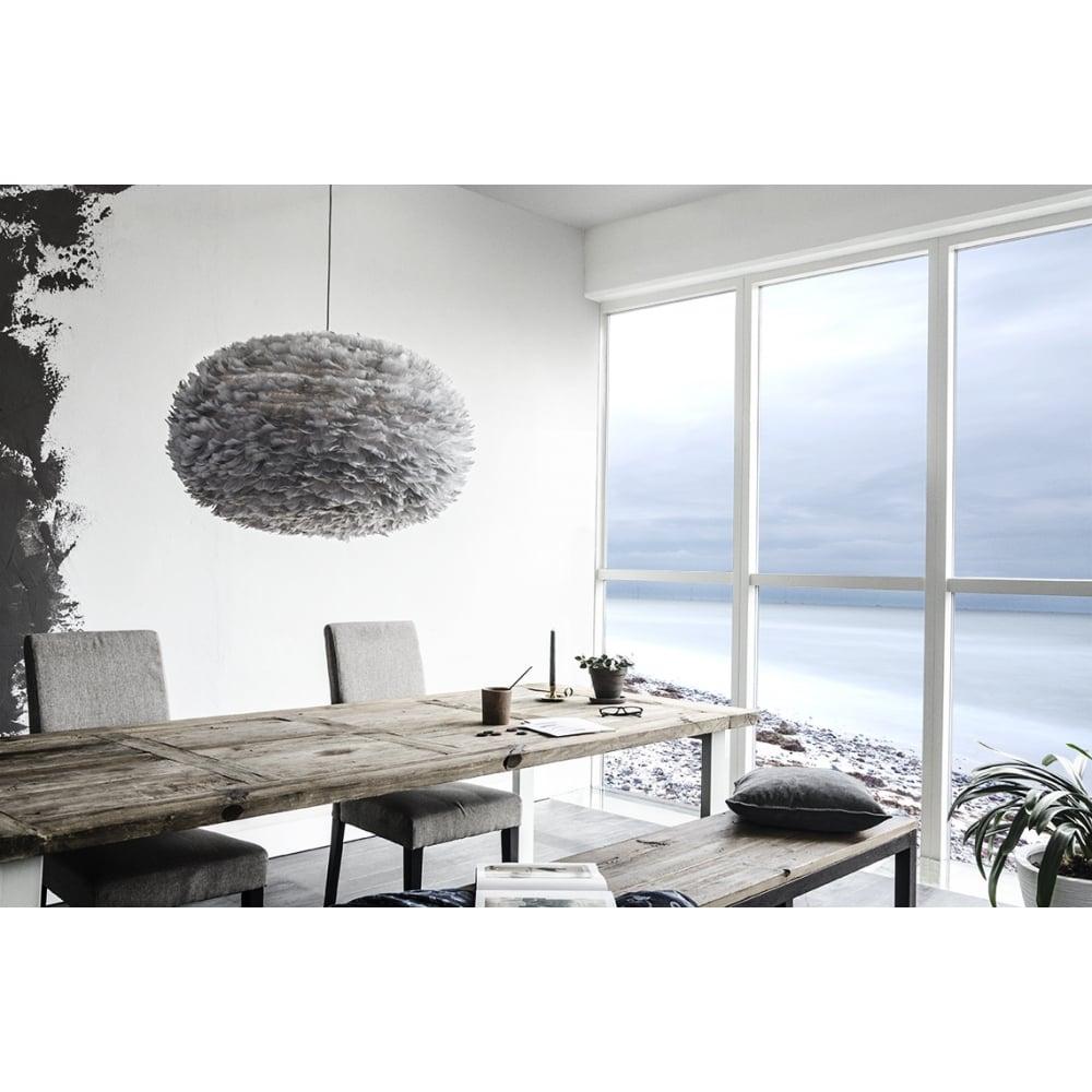 vita copenhagen eos ex large light grey feather lampshade vita copenhagen from danish concept. Black Bedroom Furniture Sets. Home Design Ideas