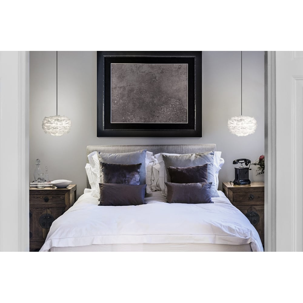 vita copenhagen eos mini white feather lampshade vita. Black Bedroom Furniture Sets. Home Design Ideas