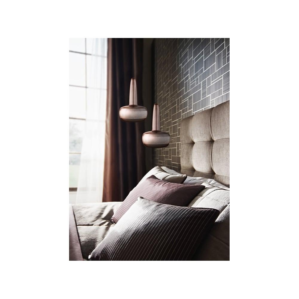 vita copenhagen vita clava brushed copper lampshade vita. Black Bedroom Furniture Sets. Home Design Ideas