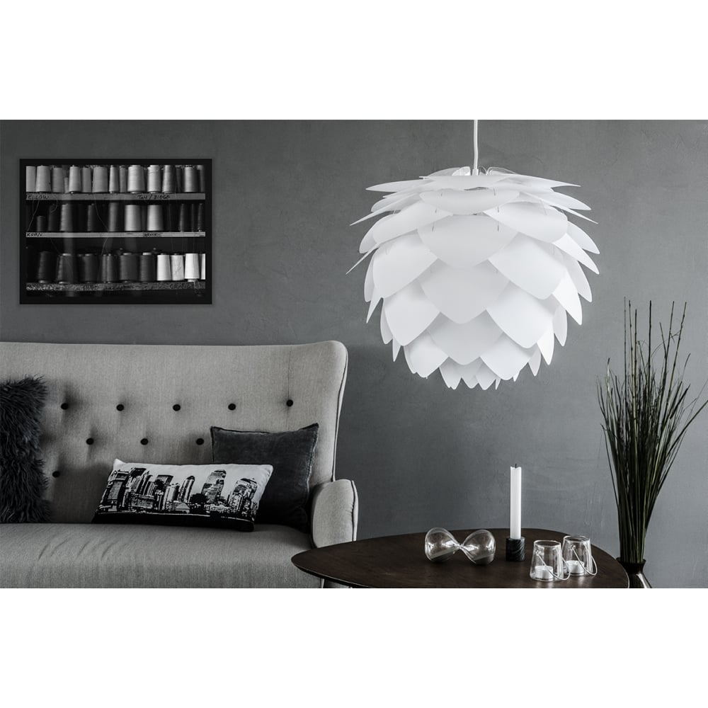 vita copenhagen vita silvia medium white lampshade vita copenhagen from danish concept stores. Black Bedroom Furniture Sets. Home Design Ideas