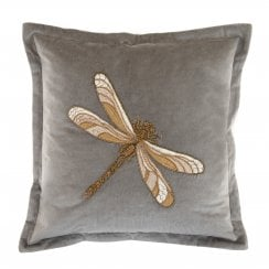 Voyage Maison Aria Grey Dragonfly Cushion