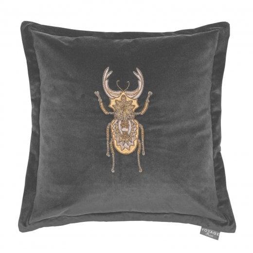 Voyage Maison Bellatrix Grey Beetle Cushion