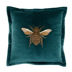 Voyage Maison Layla Teal Bee Cushion