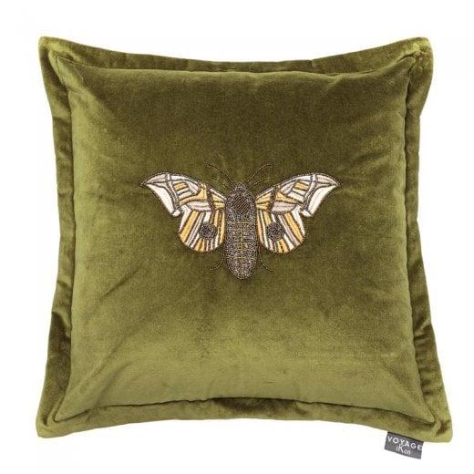 Voyage Maison Luna Grass Green Butterfly Cushion