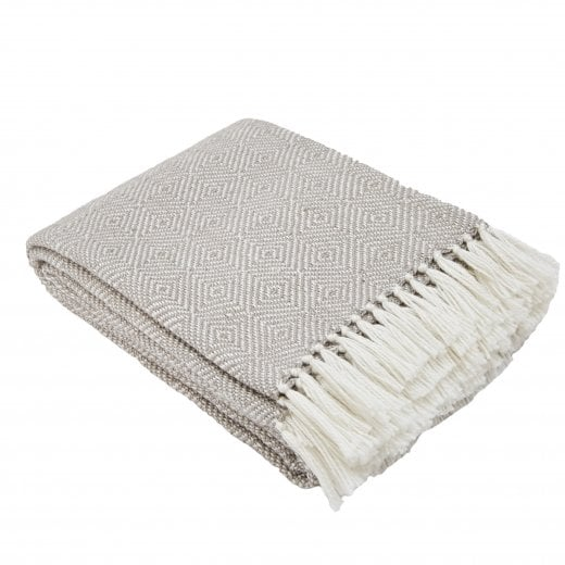 Weaver Green Diamond Blanket - Chinchilla/White