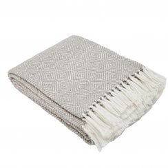 Weaver Green Diamond Blanket - Chinchilla/White
