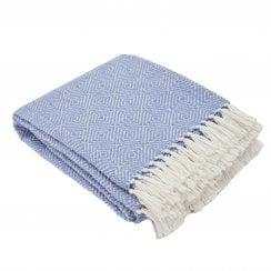 Weaver Green Diamond Blanket - Cobalt/White