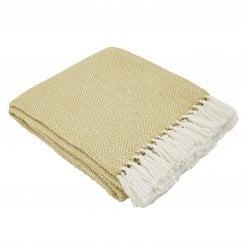 Weaver Green Diamond Blanket - Gooseberry/White
