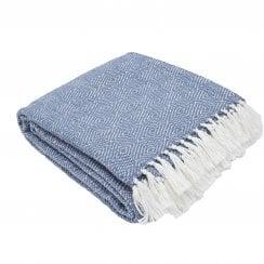 Weaver Green Diamond Blanket - Navy/White