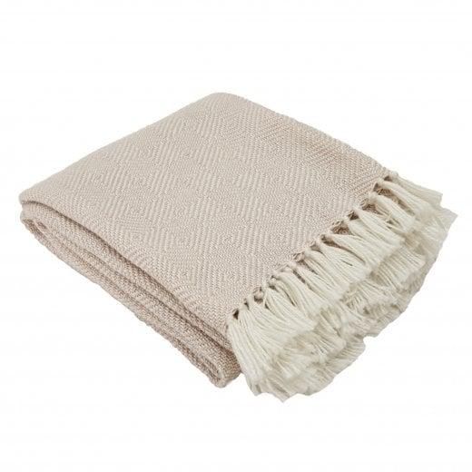 Weaver Green Diamond Blanket - Shell/White