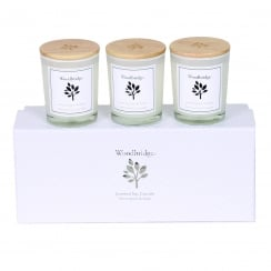 Woodbridge Set Of 3 Lemon Grass & Sage Soy Candles
