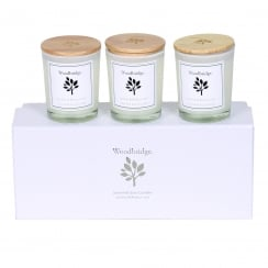 Woodbridge Set Of 3 Lychee & Redcurrant Soy Candles
