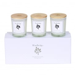 Woodbridge Set Of 3 Pomegranate Soy Candles