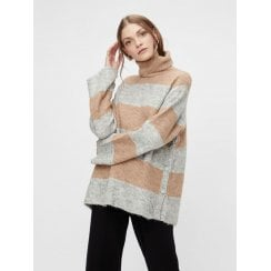 Yasallu Knit Jumper - Stripe Brown